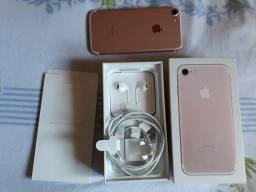 Iphone 7 rose 32g completo zerado