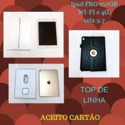 Ipad Pro Celular Wi-FI+4G, 256gb, Dourado, Com Película E 8da69e8ecb
