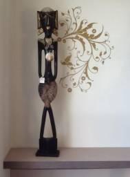 Estatueta Figura Africana Primitiva (madereira 1.00 cm ) Novo