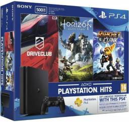 PlayStation 4 Slim 500GB c/ 3 jogos originais