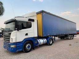 Conjunto Scania G 420 e Sider ano 07 28 Pallets Engatado - 2010