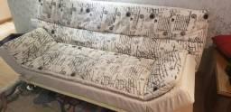 Sofá cama retrô 1.85 x 0.90 (1.15 aberto)