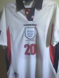 Camisa rara Seleção Inglaterra - Copa do Mundo 1998 #20 Owen