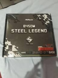 Placa mãe steel legend b450