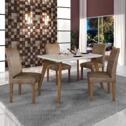 (6951) Mesa 4 cadeiras Lavínia Retangular. Entrega rápida