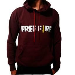 Moletom vermelho Free Fire