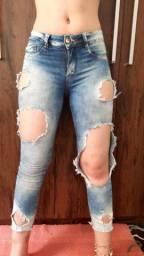 Calça jeans Destroyed Feminina
