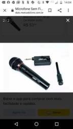 Microfone lelong sem fio e confio dois em um