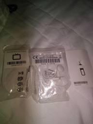 Fone de ouvido novo original da Motorola e antena novo e chave