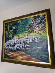 Vendo quadro decorativo pastor com ovelhas
