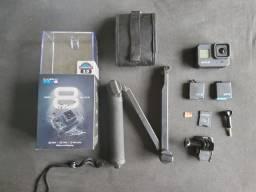 Gopro Hero 8 Black semi nova + brimde camera semi profissional