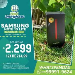 Samsung GALAXY NOTE 10 LITE LACRADO COM CANETA S PEN ( NOTA+ GARANTIA 1 ANO )