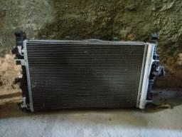 Kit Conjunto Radiador Condensador Ventoinha Cruze GM Chevrolet Manual