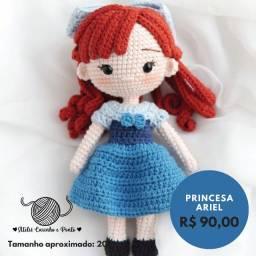 Ariel Humana - Pequena Sereia - Boneca de Crochê