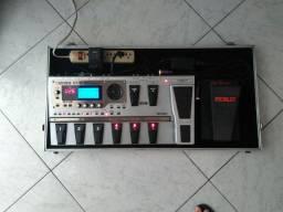 Pedaleira Boss GT10 e pedal Morley Bad Horsie (Steve Vai)