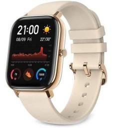 Relógio Amazfit gts A1914 dourado versão global