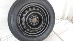 Estepe aro 14 4x100 Roda e pneu novo.