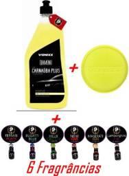 Carnaúba Plus Vonixx + Esponja Vonixx + 6 fragrância para Carro / Scented Cars