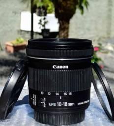 Lente Canon 10-18mm, Parcelo sem juros.