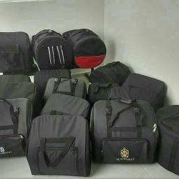 Acordeon sanfona zabumba triângulo forró pé de serra e acessórios (bag para sanfonas)