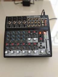 Mesa de som 12 canais com 100 efeitos
