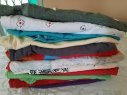 Lote de 12 camisetas muito conservadas- Tam M