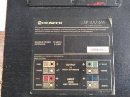 Lote com SubWoofer Pioneer HTP 100-SW + Subwoofer Vicini + caixas de Home Theater Sony
