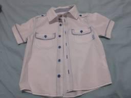 Camisa infantil, tamanho 4, manga curta