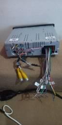 "DVD Player Pósitron SP6730DTV 1 Din 7"" Bluetooth Retrátil TV Android USB MP3 RCA"