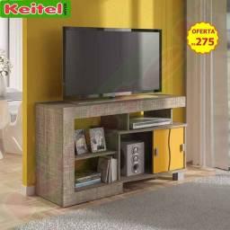Rack p/ Tv Senna - cor: canela / amarelo