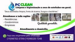 Lavagem a seco e higienização  de estofados em geral.
