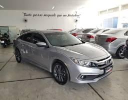 Honda Civic 2020 EX 2.0 Flex Prata ( 9.949 km ) Único Dono !!! Cheiro de ZERO km !!!