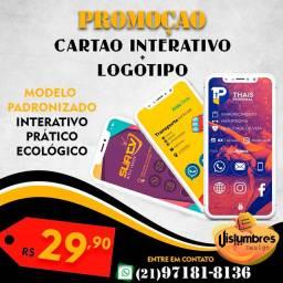 Cartão interativo digital + logo