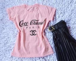 T-shirt feminina e camisas multimarcas masculinas