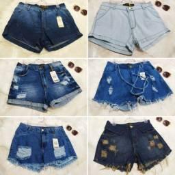 Shortinhos jeans roupa feminina