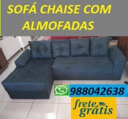 Compre Barato Sem Sair de Casa!!Sofa Chaise+3 Lugares Com Almofadas 799,00