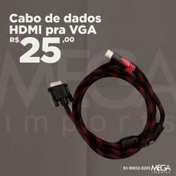 Cabo de dados VGA para HDMI