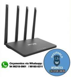 Promoção Roteador Intelbras de 4 antenas W5 1200f