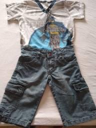 Lote de  roupas apenas 50,00. Tamanho de 4 a 6 anos....13 blusas e 4 Bermudas.