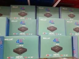 Tv box 4k configurado Android 10.1aceito cartão