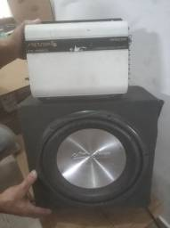 Módulo Stetson 950 mono e stereo e caixa.