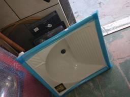 Pia branca mármore acrílico pra lavanderia
