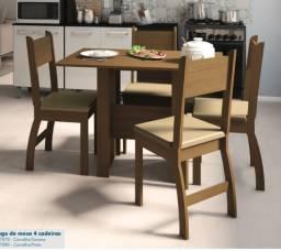 Mesa 4 cadeira em MDF *