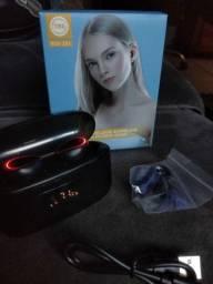 Fones de Ouvido Bluetooth EarBuds com Power Bank