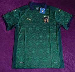 Camisa Itália Euro 2020 (disponível: GG)