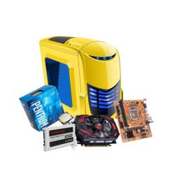 Computador Cpu Gamer Hd 500gb Ssd 256gb 8gb Pentium G4560 C/ Placa Video + Kit Multimidia