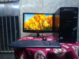 PC com monitor 19+4giga de memória+HD 500