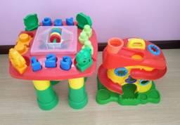 Brinquedos - Mesinha e Casinha
