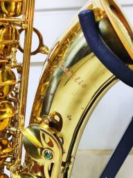 Sax tenor Cecílio laqueado seminovo mega oferta