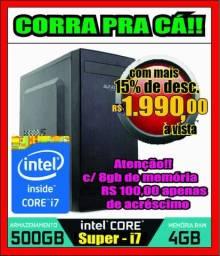 Grande promoção!! CPU Core i7 com HD de 500GB + 4GB de RAM (parcelo no cartão)